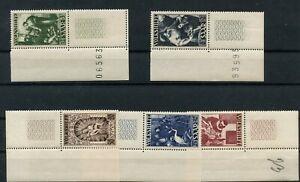 Germany-Saar-Saarland-vintage-yearset-1949-Mi-267-271-Zierfeld-Mint-MNH-2