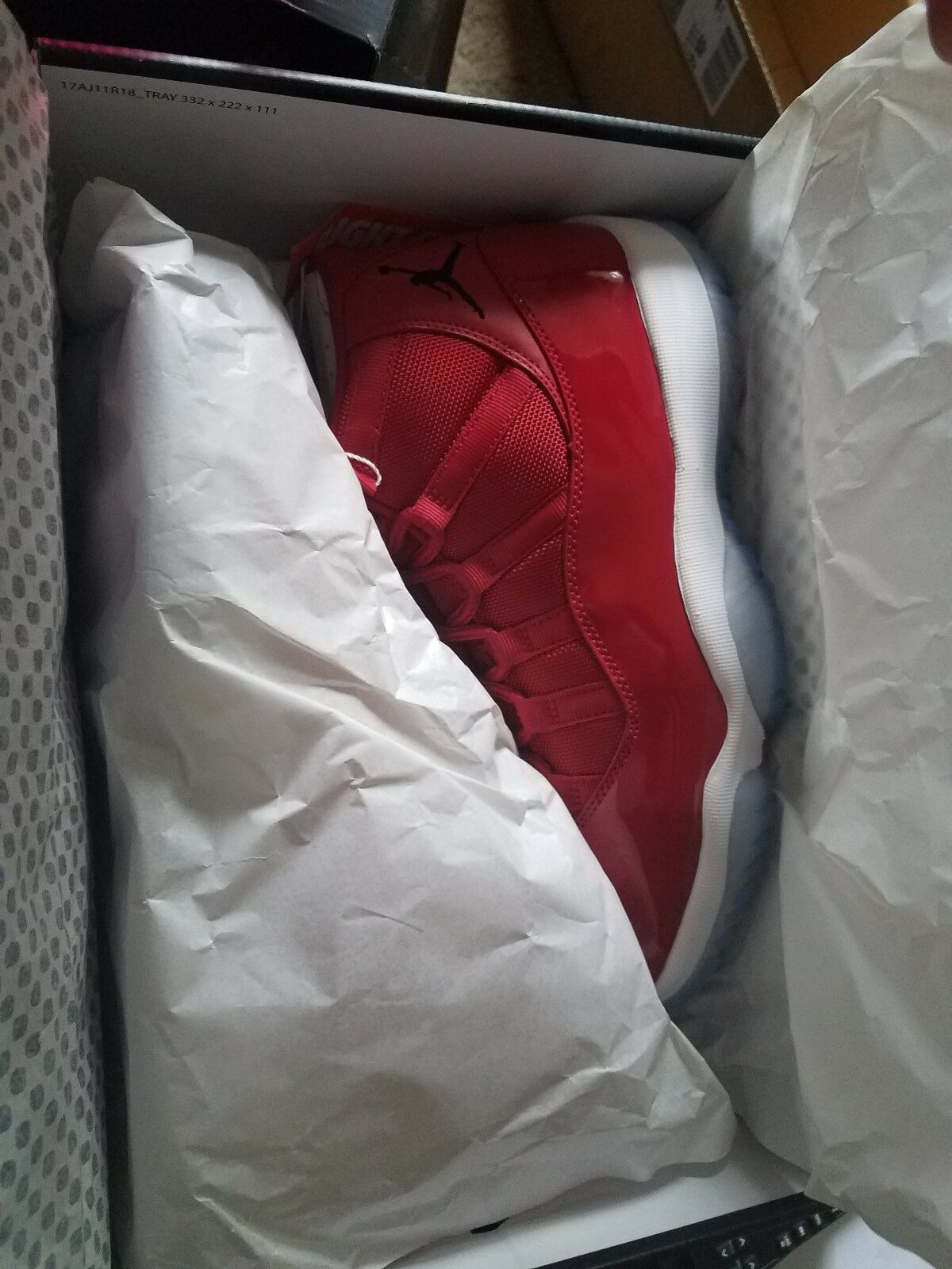 AIR JORDAN 11 XI WIN LIKE 96 SIZE 8 MEN US RED NIKE BRAND NEW WITH TAGS AND BOX Brand discount
