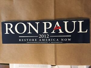 BLUE-RON-PAUL-2012-OFFICIAL-BUMPER-STICKER-Decal-Car-Revolution-Flat-Rate-Shippi