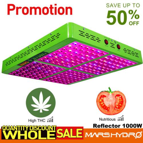 Mars Reflector 1000W LED Grow Light Vollspektrum Pflanze Gemüse Blumen Licht