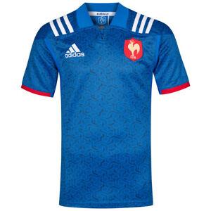 Frankreich adidas Herren Rugby Heim Trikot Sport Fan Shirt Jersey BR3359 neu