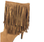 thumbnail 9 - Womens-Ladies-Tan-Faux-Suede-High-Heel-Fringe-Shoes-Ankle-Boots-Size-UK-8-New