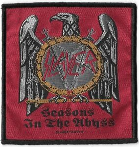 Official-Merch-Woven-Sew-on-PATCH-Heavy-Metal-Rock-SLAYER-Seasons-in-the-Abyss