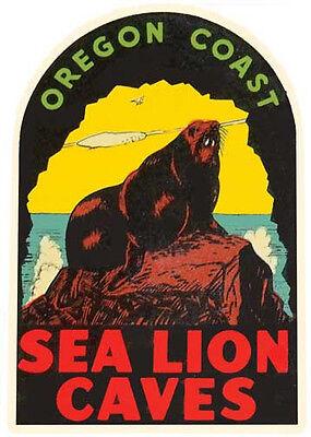 Seaside Oregon    Vintage 1950/'s Style  Travel Decal Sticker Label  Coast