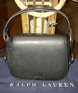 Image is loading 100-Authentic-Ralph-Lauren-Womens-Leather-Saddle-Small- d76e77dbfd45c