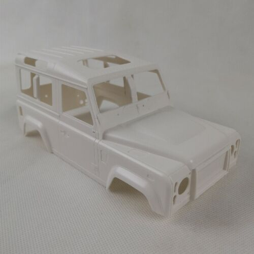 Defender D90 Pre-Cut White Hard Body Fits for 1//18 RC Crawler Kyosho Mini-Z 4x4