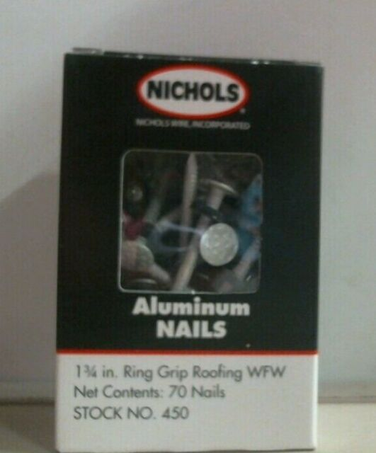 Nichols No 450 1 3 4 Quot Ring Grip Roofing Aluminum Nails