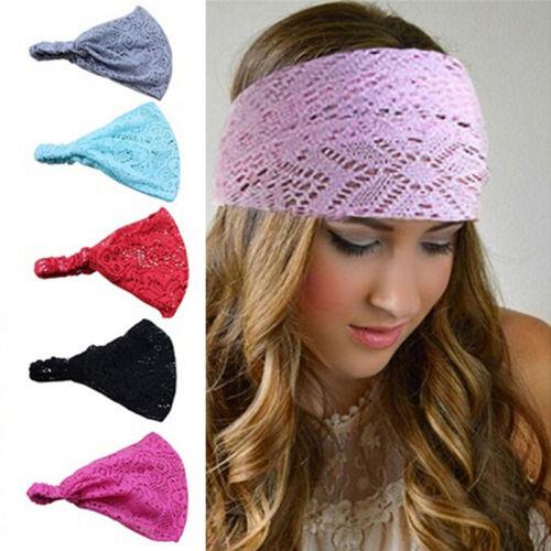 Frauen Yoga Kopf wickeln weiche Haarband Spitz Stirnband elastische WrapPDH