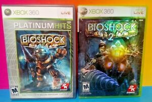 Bioshock 1 + 2 Bio Shock - XBOX 360 Games Rare Lot Bundle Complete Games