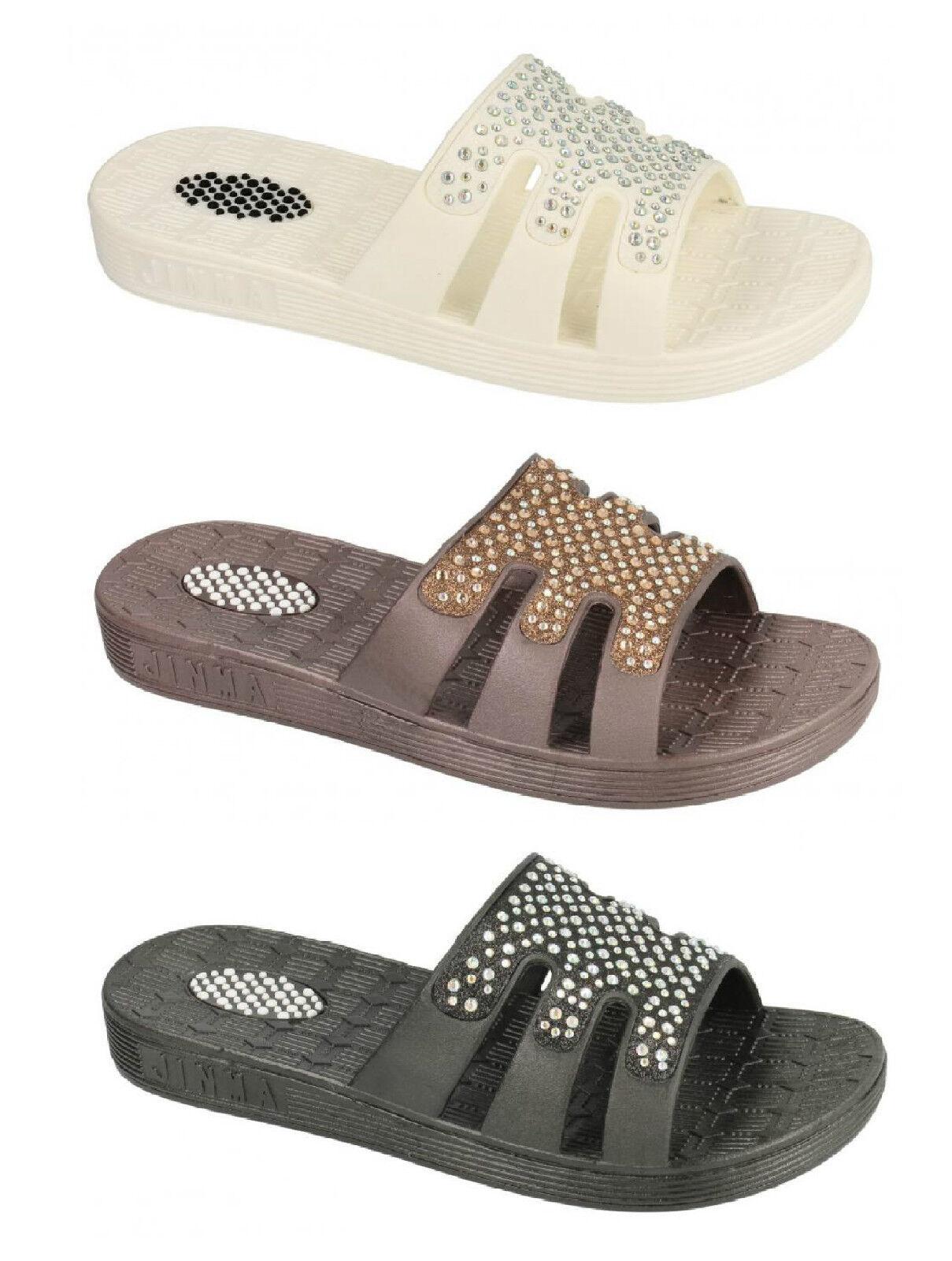 SALE Ladies Unbranded Studded Shower Garden Beach Mules Sandals - F0782