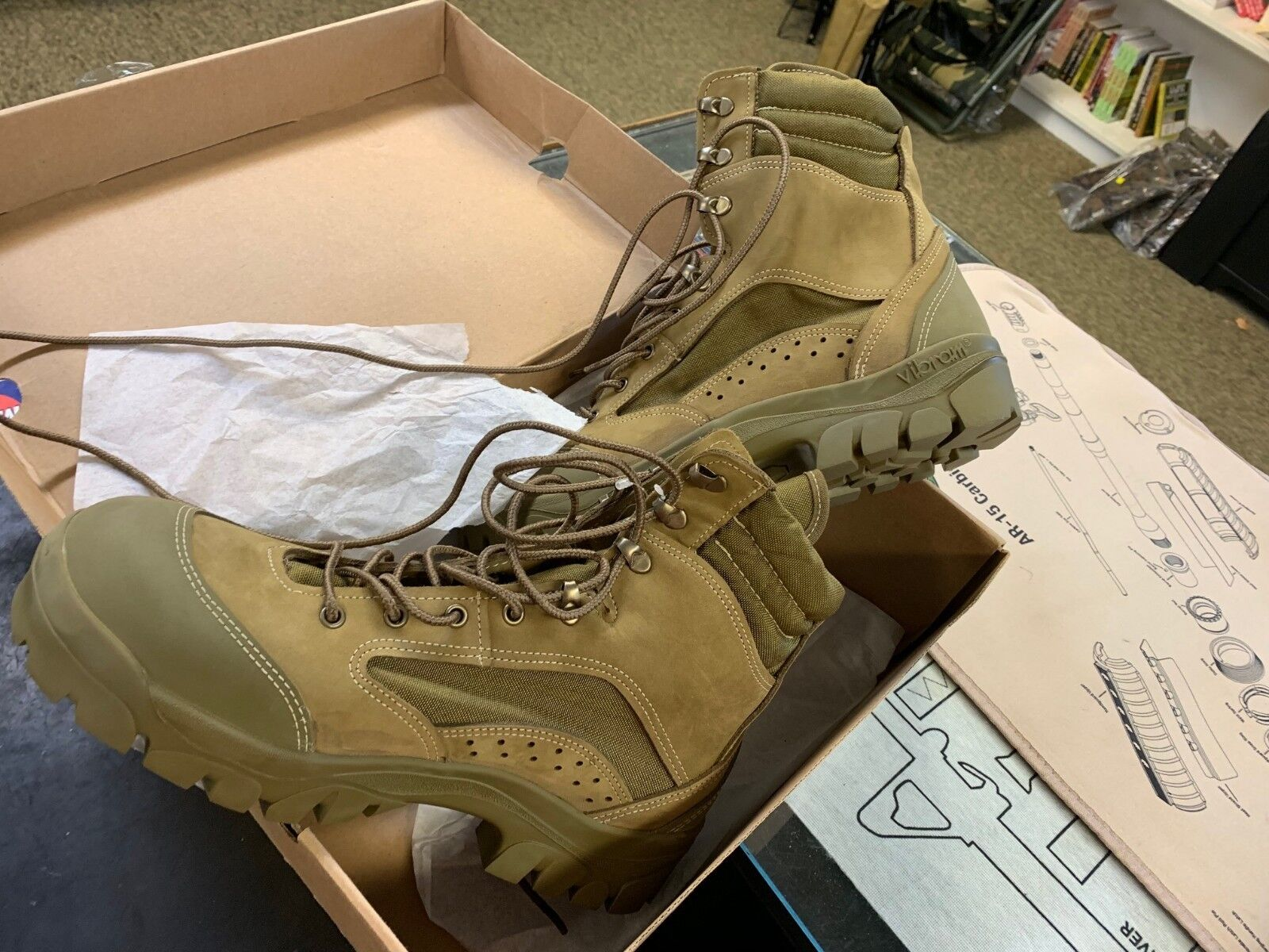 BATES Dimensione 8.5W HOT WEATHER MILITARY  MCB MOUNTAIN COMBAT HIKER stivali