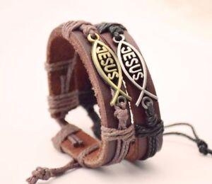 Jesus-Bracelet-Religion-Bangle-I-love-Pope-Wristband-Leather-Father-Church-Cuff