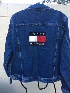Details about TOMMY HILFIGER VINTAGE 90's USA FLAG MENS DENIM JACKET SZ L