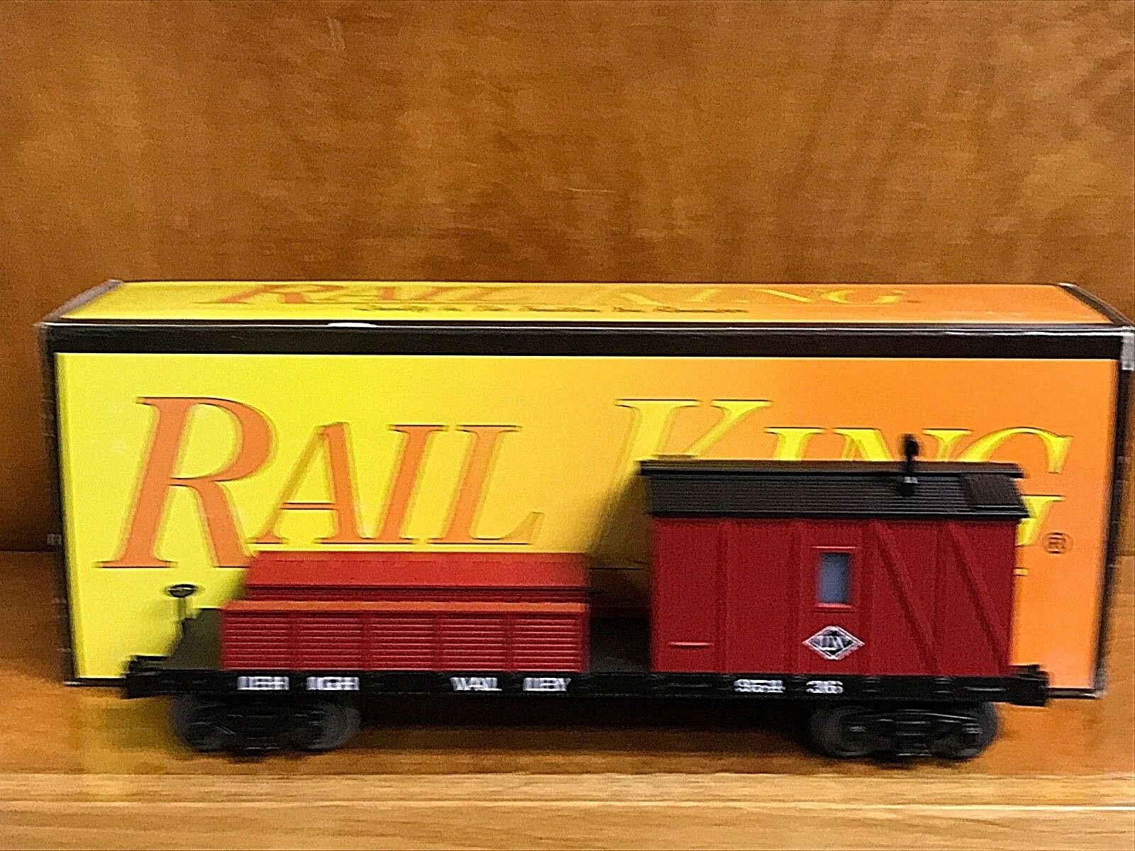 MTH RAILKING LEHIGH VALLEY CRANE TENDER CAR NEW IN BOX
