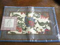 Tradewinds Designer Collection 4piece 100% Cotton Placemat Set 13 X 19nip