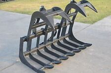 "Bobcat Skid Steer Attachment 66"" Dual Cylinder Root Grapple Bucket - Ship $99"