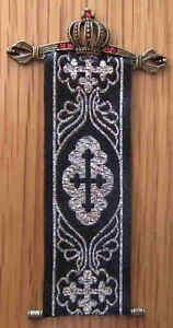 1/12, dolls house miniature Crown Castle banner Handmade Tudor Tapestry LGW