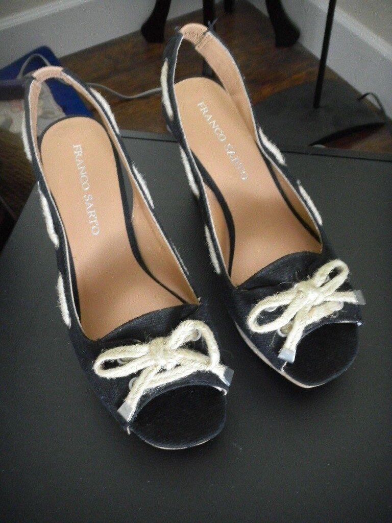 Fly Flot Women's Women's Flot Leather Slingback Sandal Anatomic Wedge Heel White RRP .99 21bff2