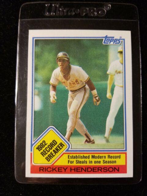 1984 Topps Rickey Henderson Oakland Athletics #2 Baseball Card