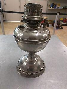 """ANTIQUE B&H OIL LAMP """"No. 4. RADIANT"""" DEC. 31 1885"""