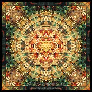 Sri-Yantra-Healing-Mandala-10-5-cm-Sticker-Lotus-Energiebild-Meditation-Mantra