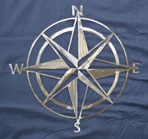 Custom Metal Nautical Compass Rose Home Garden Boat House Wall