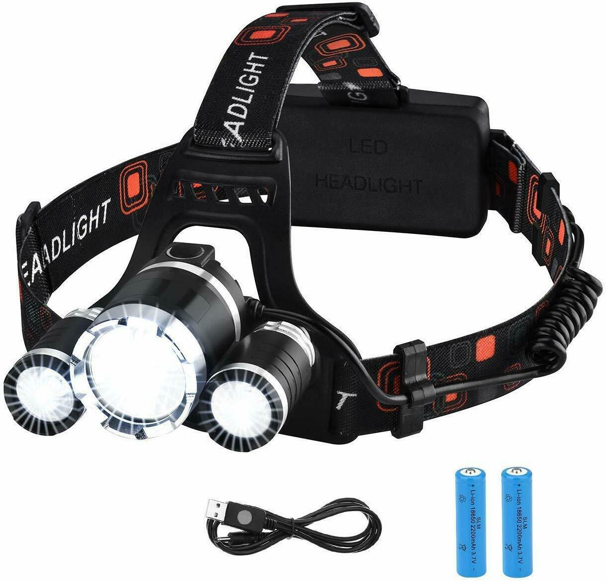 Victsing Flashlight davanti Rechargeable LED High energia 8 Hour Camping autop Bike