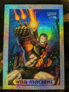 1994-MARVEL-MASTERPIECES-Limited-Ed-Silver-Holofoil-Card-10-of-10-War-Machine