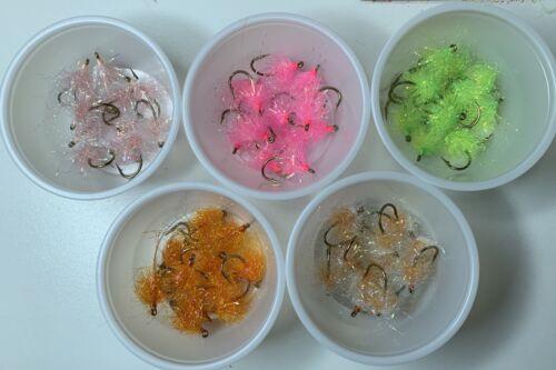 12 UV Estaz Pearl PM Nuke Egg Flies For Steelhead//Trout//Salmon