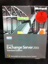 Microsoft Exchange Server 2003 Standard / 5 Clients, Deutsch mit MWST-Rechnung