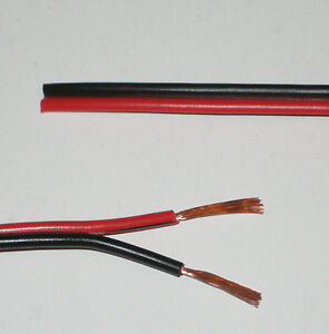 Red-Black-electrical-cable-Car-Home-Speaker-Twin-wire-10A-32-0-2mm-10-AMP-25Metr