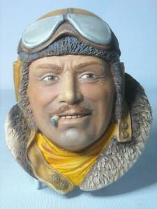 Legend-Products-RFC-PILOT-6-Photos-Plaster-Chalkware-Head-Wall-Plaque-Flying