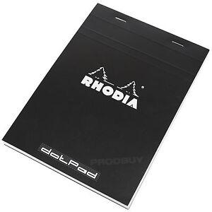 Rhodia-A5-Dot-Pad-Black-Staplebound-16-dotPad-Matrix-Grid-Drawing-Sketch-Book