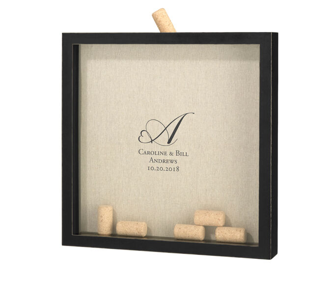 Wine Signing Corks With Personalized Frame Wedding Guest Book Alternative