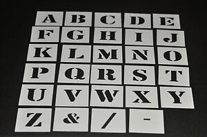image is loading alphabet stencil individual letters a z 40mm up to