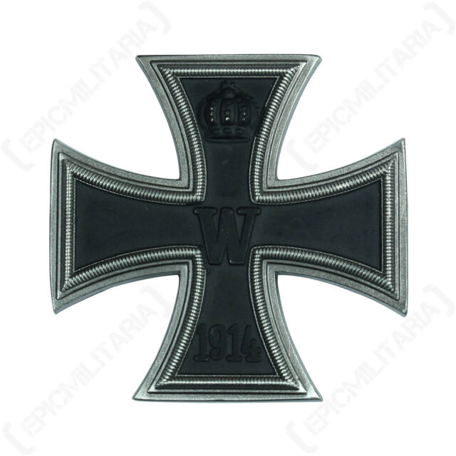 1914 Iron Cross 1st Class - Antique German Repro Badge Combat Award Soldier Army