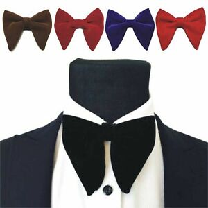 Mens-Oversized-Bow-Tie-Velvet-Bowtie-Men-039-s-Big-Bow-Tie-Wedding-Groom-Party-Wear