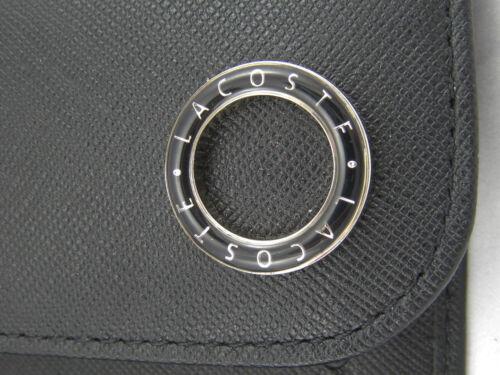 New Authentic Vintage LACOSTE Ladies Leather PURSE WALLET Glam Twist 3 Black