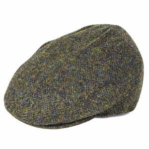 c03c7ab7452 Image is loading Failsworth-Hats-Stornoway-Harris-Tweed-Flat-Cap-Green-