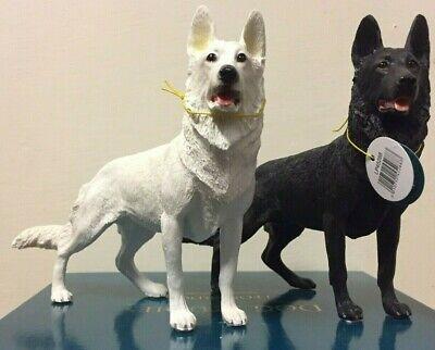 Alsatian Dog Ornament Figurine White