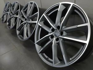 21 Inch Original Audi A6 S6 C8 4k F2 4k0601025ae S Line Alloy Wheels Rims New Ebay