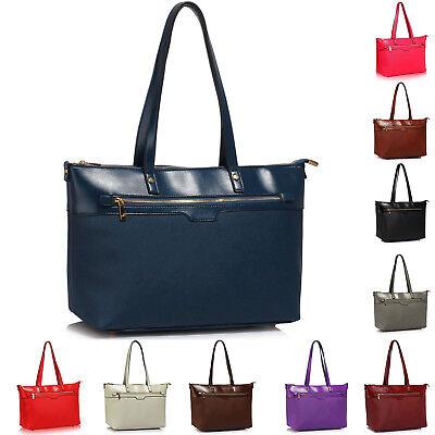 Ladies Women New Ostrich Print Faux Leather Style Tote Bag Shoulder Bag Handbag