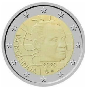 2 Euro Commemorativo Finlandia 2020 Vaino Linna FDC