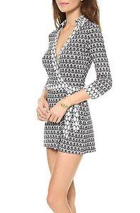 de85cb27926c Diane Von Furstenberg Celeste Wrap Romper Size 14