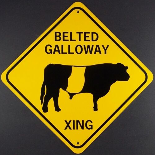 BELTED GALLOWAY XING  Aluminum Cow Sign  Won/'t rust or fade