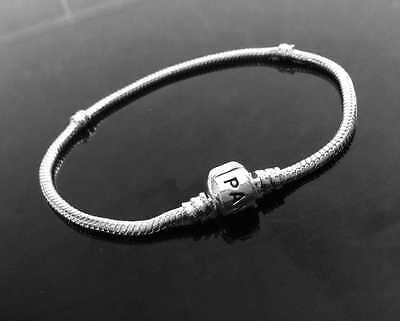 Fashion Silver Snake Chain Bracelet Fit European Charm Beads