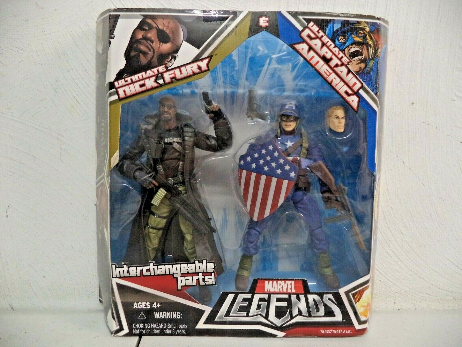 2008  HASBRO  MARVEL LEGENDS  ULTIMATE NICK FURY & CAPTAIN AMERICA  nuovo