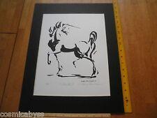 1984 Nancy Chien Eriksen Unicorn print signed 11/50 Silhouette II