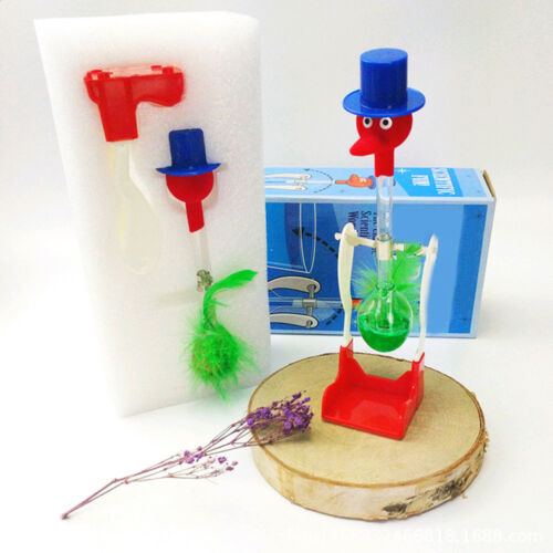 Novelty Retro Happy Drinking Bird Dipping Bobbing Dippy Einstein Duck Glass Toy