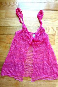 21901b6448 S Victoria Secret BRA TOP BABYDOLL PINK LACE VINTAGE-NEW SLEEP ...